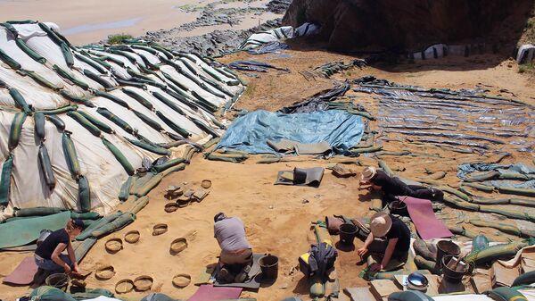 Следы неандертальцев обнаружены археологами на пляже в Нормандии