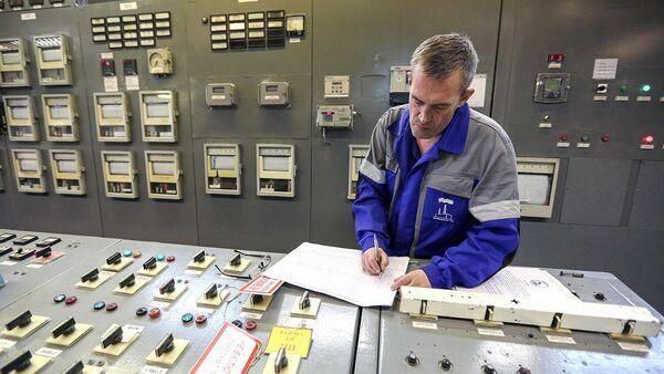Пульт управления ТЭЦ во время подготовки к началу отопительного сезона