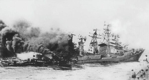 Гибель большого противолодочного корабля проекта 61 Отважный