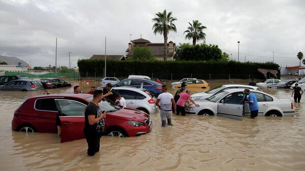 Наводнение, вызванное проливными дождями, в Испании. 13 сентября 2019