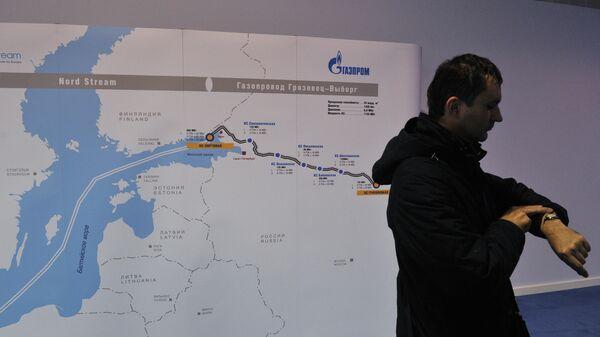 Схема второй ветки газопровода Северный поток