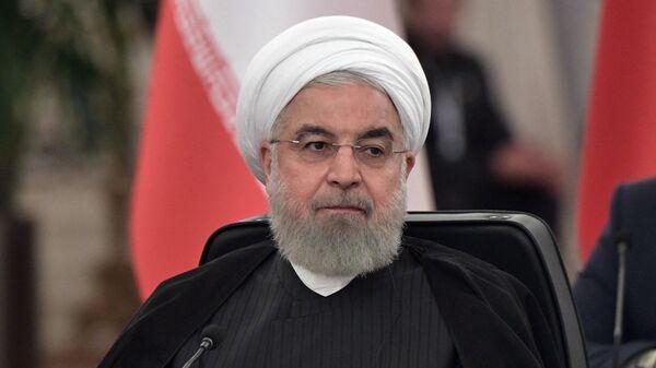 Президент Ирана Хасан Рухани на V встрече глав государств - гарантов Астанинского процесса содействия сирийскому урегулированию