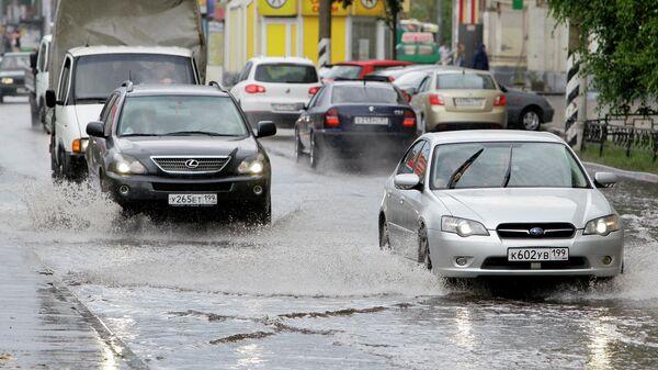 Последствия ливневых дождей в Москве