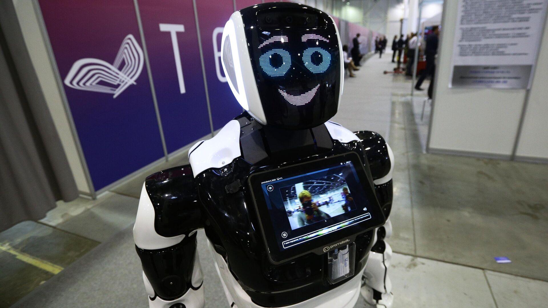 Робот Promobot V.4 на выставке технологического развития в рамках международного форума Технопром-2019 в Новосибирске - РИА Новости, 1920, 26.01.2021