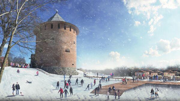 Вал Окольного города в Великом Новгороде