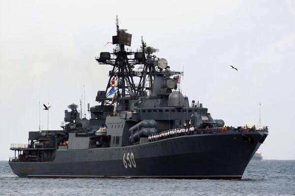 Большой противолодочный корабль Адмирал Чабаненко в Венесуэле