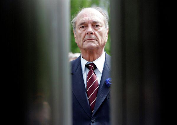 Президент Франции Жак Ширак. 8 мая 2007 года