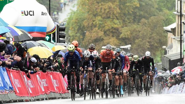 Гонка на чемпионате мира по велоспорту на шоссе