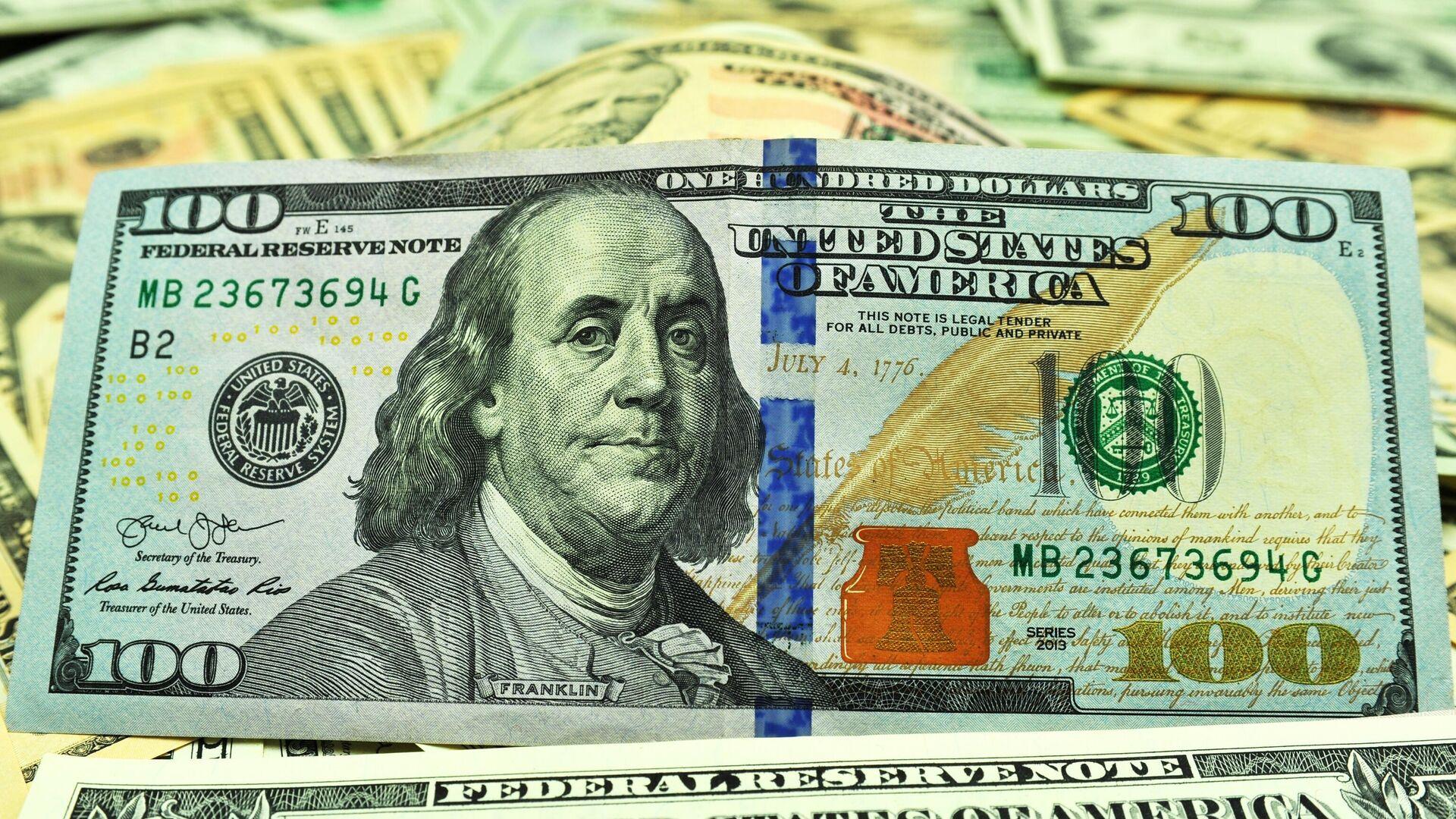 Банкнота номиналом 100 долларов США - РИА Новости, 1920, 28.02.2021