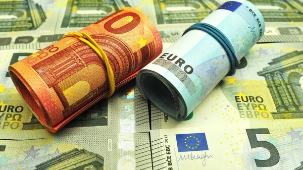 Банкноты номиналом 5, 10 и 20 евро