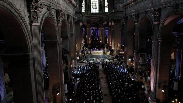 Церемония прощания с Жаком Шираком в церкви Сен-Сюльпис