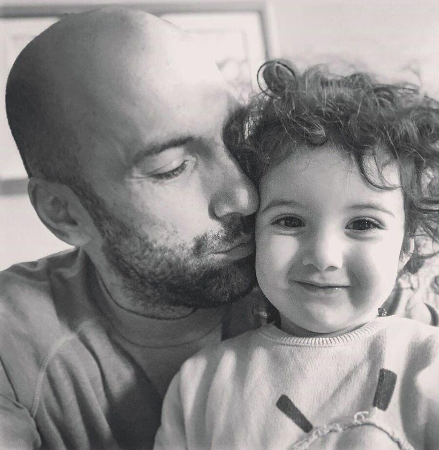Евгений Папунаишвили с дочкой Софией