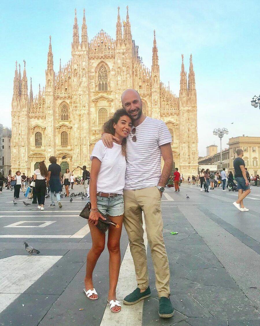 Италия, Милан. С супругой Салимой