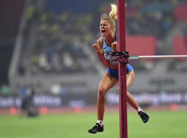 Юлия Левченко на чемпионате мира по легкой атлетике 2019 в Дохе
