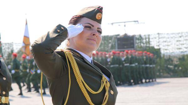 Репетиция парада в честь пятилетия образования Народной милиции ЛНР
