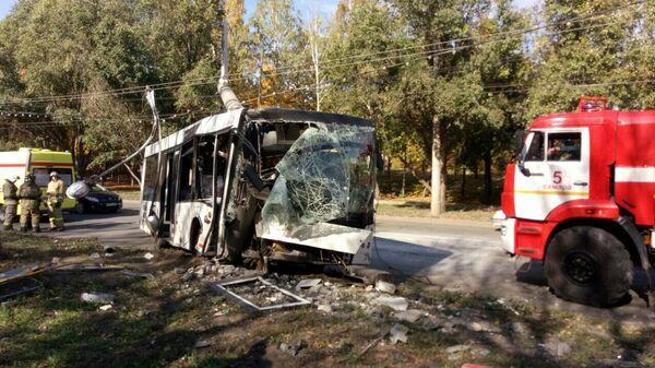 ДТП с участием автобуса районе пересечения улиц Стара-Загоры и Ташкентской в Самаре