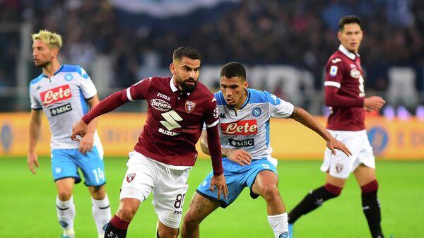Игровой момент матча Наполи - Торино