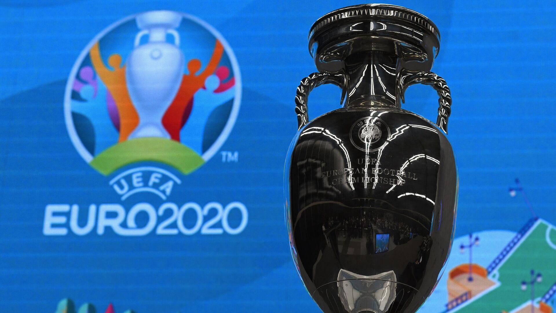 Кубок и логотип чемпионата Европы по футболу 2020 - РИА Новости, 1920, 15.02.2021