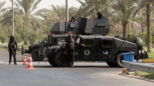Бойцы спецподразделения по борьбе с терроризмом на улице Багдада