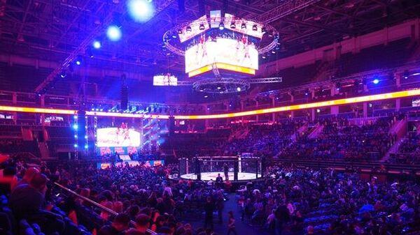 ЦСКА Арена во время турнира по смешанным единоборствам лиги Fight Nights Global