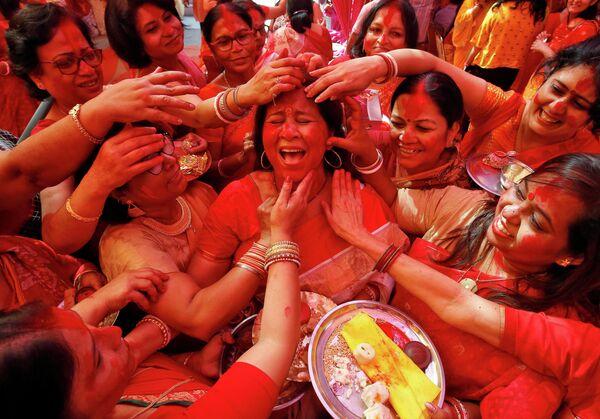 Фестиваль Durga Puja в Чандигархе, Индия