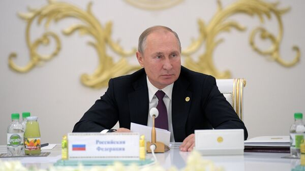 Президент РФ Владимир Путин на заседании Совета глав государств СНГ