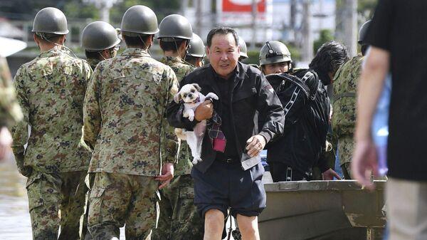 Ликвидация последствий тайфуна Хагибис в Японии