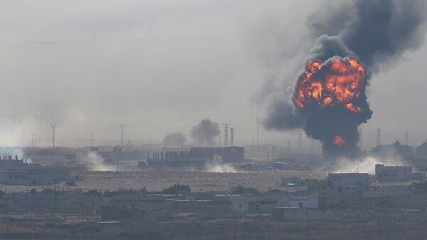 Взрыв в городе Рас-эль-Айн на северо-востоке Сирии. 12 октября 2019