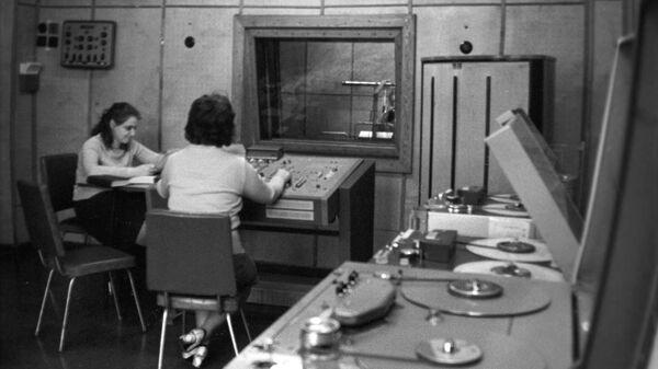 На студии Московского радио