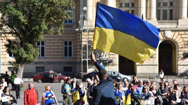 На митинге в Киеве