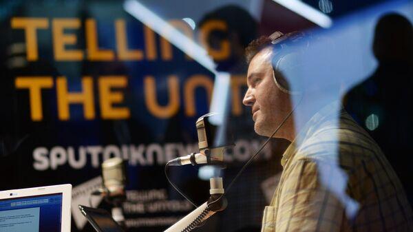 Студия радио Sputnik на XIX Петербургском международном экономическом форуме
