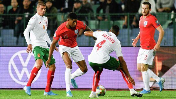 Игровой момент матча Болгария - Англия