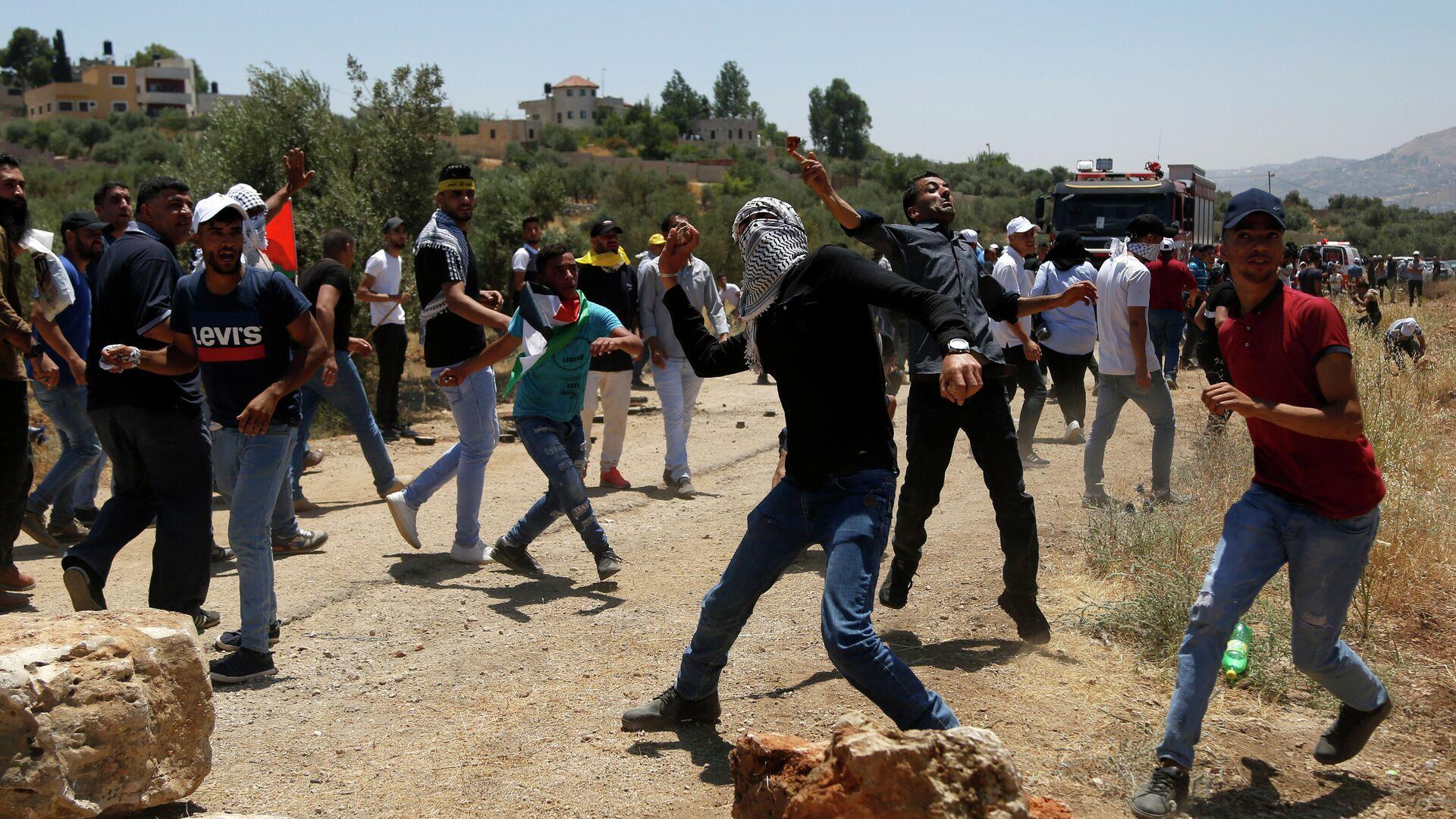 Столкновения палестинцев с израильтянами - РИА Новости, 1920, 29.01.2020