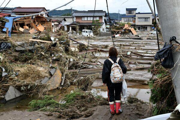 Последствия тайфуна Хагибис в Нагано, Япония