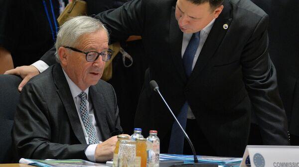Глава Еврокомиссии Жан-Клод Юнкер на саммите ЕС в Брюсселе. 18 октября 2019