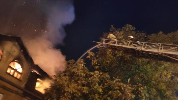 Пожар в не эксплуатируемом здании в Пятигорске