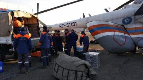 Спасатели готовятся к вылету в Курагинский район