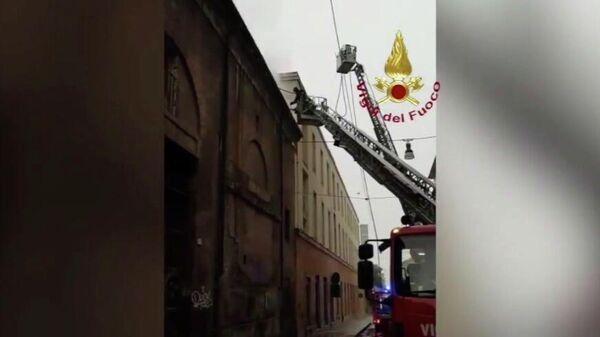 Пожар в историческом здании Cavallerizza Reale в Турине, Испания. 21 октября 2019