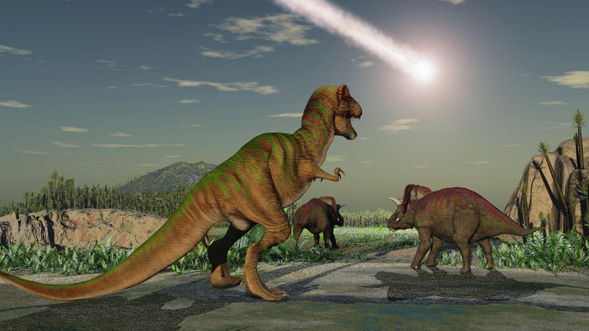 Астероид, который уничтожил динозавров. Взгляд художника - РИА Новости, 1920, 30.06.2020