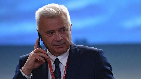 Президент, председатель правления ПАО Лукойл Вагит Алекперов на экономическом форуме Россия - Африка в Сочи