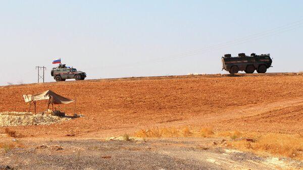 Российская военная полиция в северо-восточном сирийском городе Кобани. 23 октября 2019