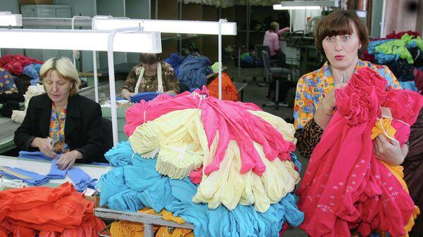 На промышленно-торговой трикотажной фирме Виктория в Биробиджане
