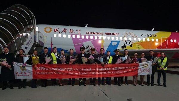 Самолёт Comac ARJ21-700 приземлился во Владивостоке