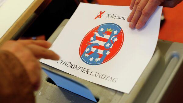 Во время голосования на выборах в немецкой Тюрингии