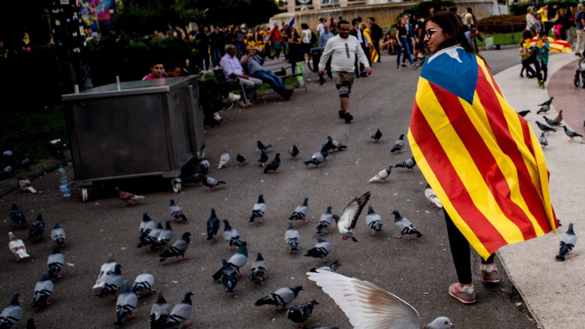 Акция протеста в Барселоне - РИА Новости, 1920, 28.01.2020