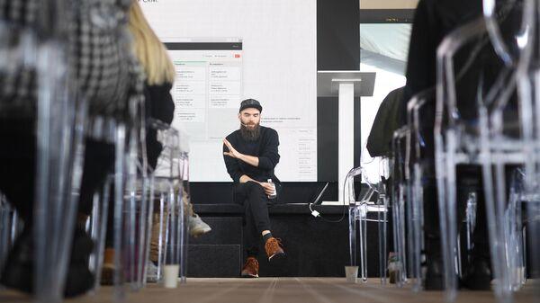 Никита Обухов основатель Tilda Publishing на конференции по медиадизайну M&DC2k19