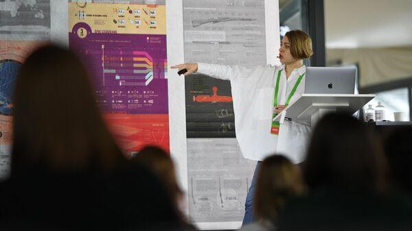 Мария Поташова старший редактор инфографики на конференции по медиадизайну M&DC2k19, организованная МИА Россия сегодня