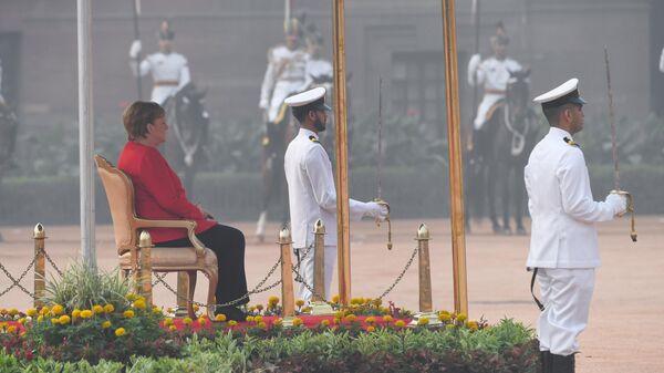 Канцлер Германии Ангела Меркель во время визита в Индию