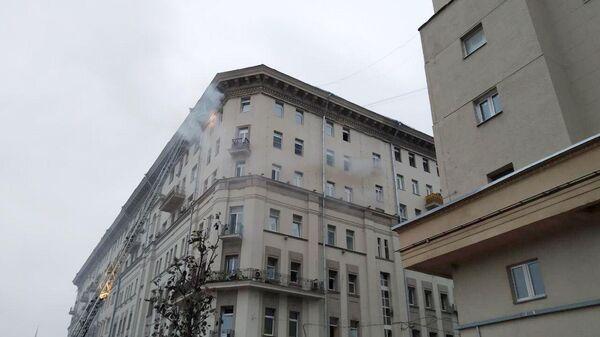 Пожар в жилом доме на Большой Сухаревской площади