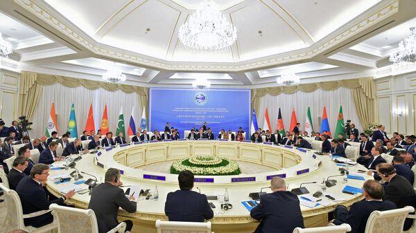 Заседание Совета глав правительств государств - членов ШОС в Ташкенте